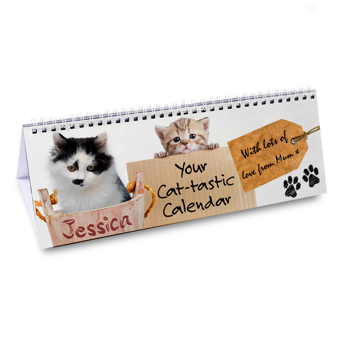 Personalised Cat Desk Calendar