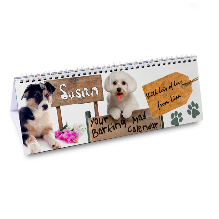 Personalised Dog Desk Calendar