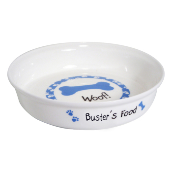 Personalised Pet Bowl - Blue Bone Dog / Puppy Bowl