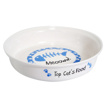Personalised Pet Bowl - Blue Fish Cat / Kitten Bowl