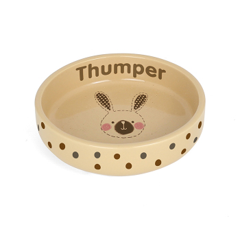 Personalised Pet Bowl - Stitch Small Rabbit Bowl