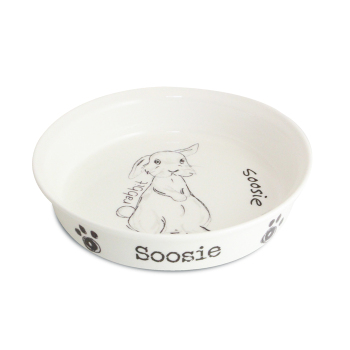 Personalised Pet Bowl - Scribble Small Rabbit Bowl