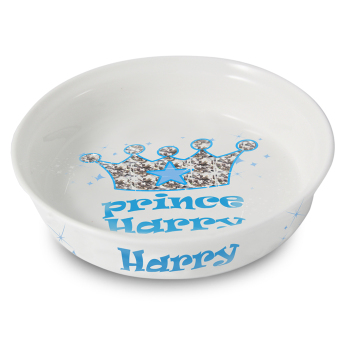 Personalised Pet Bowl - Prince Bling Pet Bowl - Fine Bone China