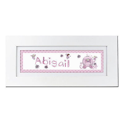Personalised Child's Name Frame - Pumpkin Fairy