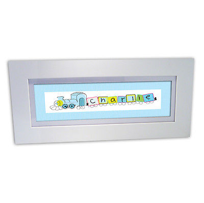 Personalised Child's Name Frame - Train