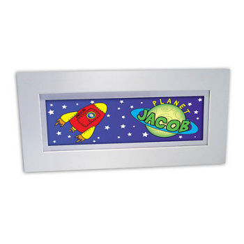 Personalised Child's Name Frame - Space