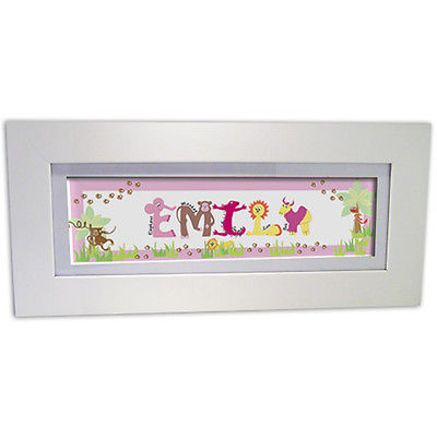 Personalised Child's Name Frame - Amimals
