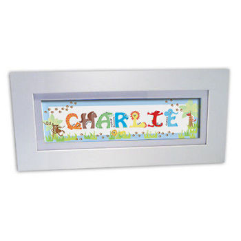 Personalised Child's Name Frame - Animals