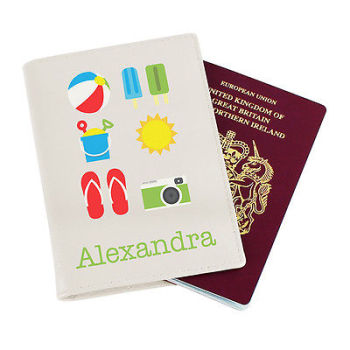 Personalised Child's Passport Cover