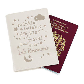 Personalised Baby / Child's Passport Cover - Twinkle Twinkle Passport Holder