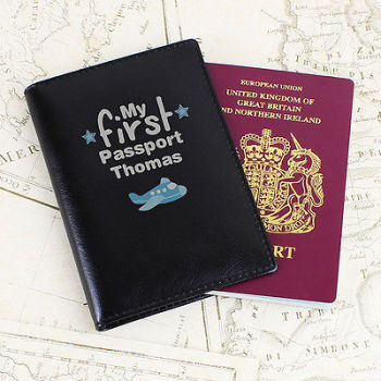 Personalised Baby / Child's Passport Cover - My First Passport Holder