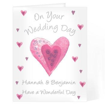 Personalised Wedding Day Card - Wedding Celebration