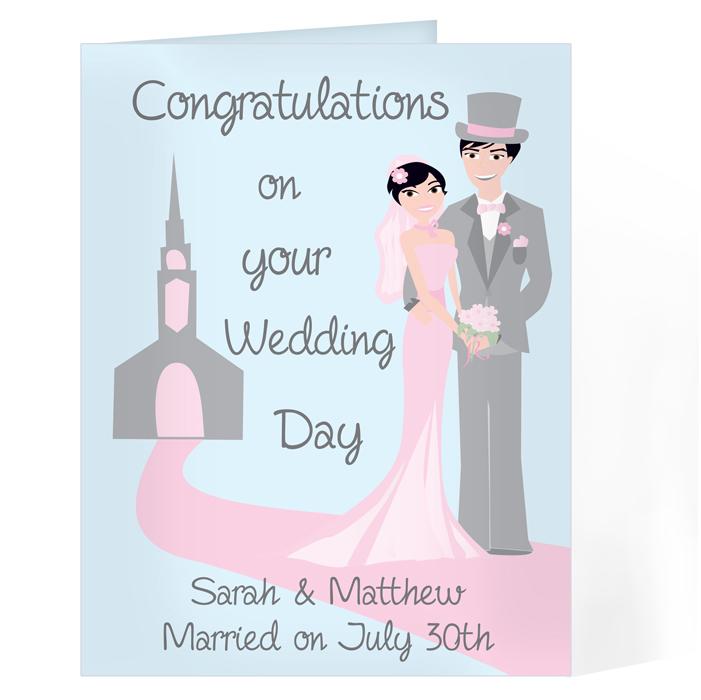 Personalised Wedding Day Card - Fabulous Wedding Couple Card