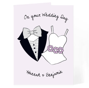 Personalised Wedding Day Card - On Your Wedding Day Card