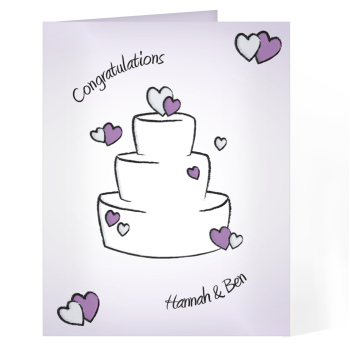 Personalised Wedding Day Card - Wedding Cake Card