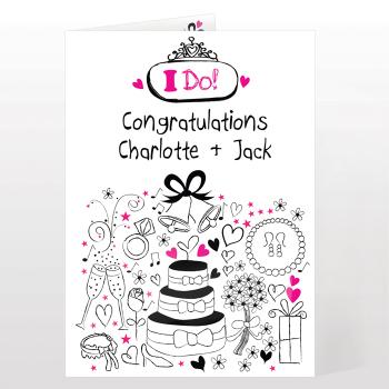 Personalised Wedding Day Card - I Do Wedding Card
