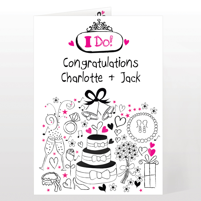 Personalised Wedding Day Card - I Do Wedding Card