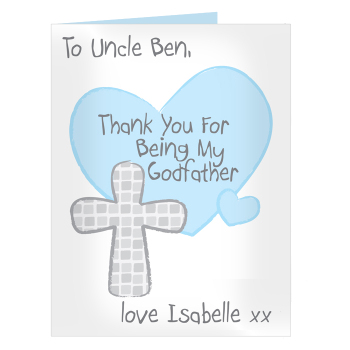 Personalised Godfather Card - Thank You for being my Godfather Card