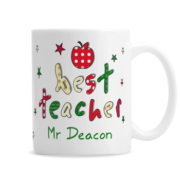 Personalised Thank You Teacher Gift - Teacher Ceramic Mug