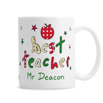 Personalised Thank You Teacher Gift - Teacher Ceramic Mug