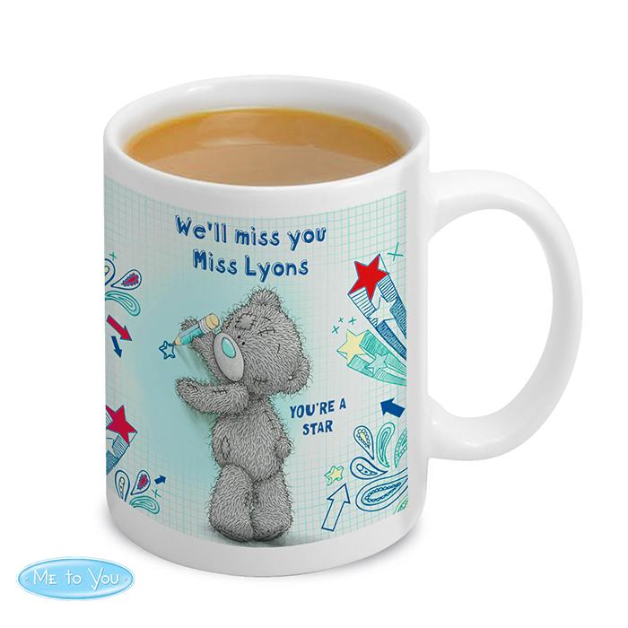 Personalised Thank You Teacher Gift - Teacher Me To You Tatty Teddy Ceramic