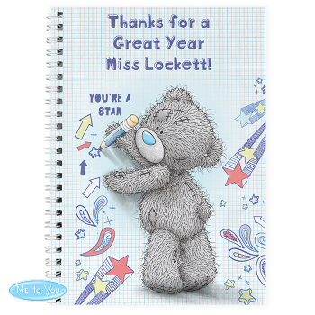 Personalised Thank You Teacher - 'Me to You' Tatty Teddy NOTE BOOK Teacher, Teaching Assistant