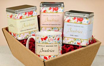 Personalised Tea Gift Set - Floral Design