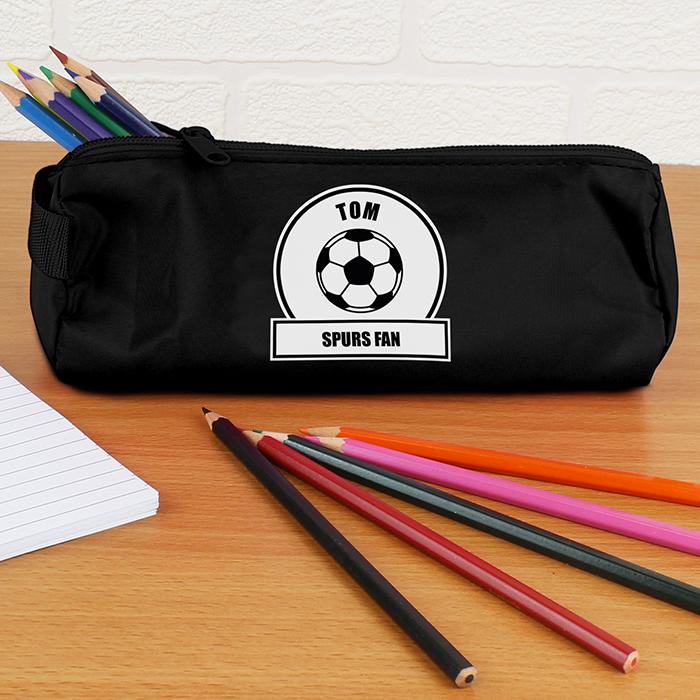 Personalised Back to School Pencil Case - Football Fan