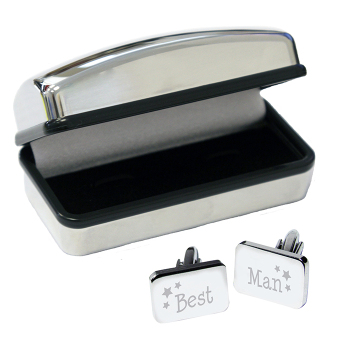 Best Man Cufflinks in Case