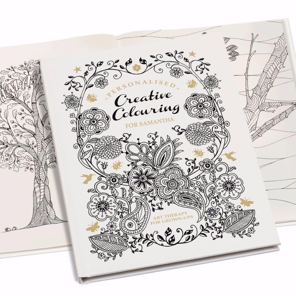 Personalised Creative Colouring Book - Softback or Hardback book