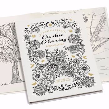 Personalised Creative Colouring Book - Softback or Hardback book