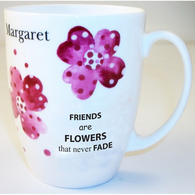 Pink Pansies Friend Bone China Conic Mug