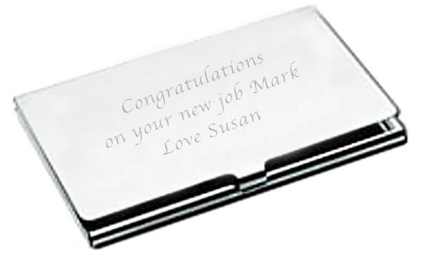 Personalised Engraved Executive Business Card Holder