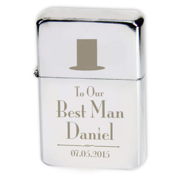 Personalised BEST MAN Lighter