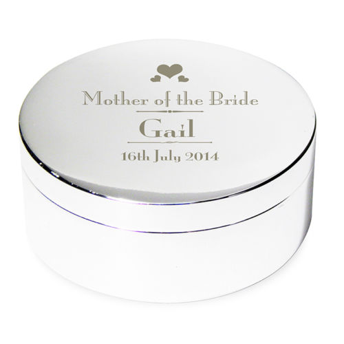 Personalised Engraved Mother of the Bride Trinket Box