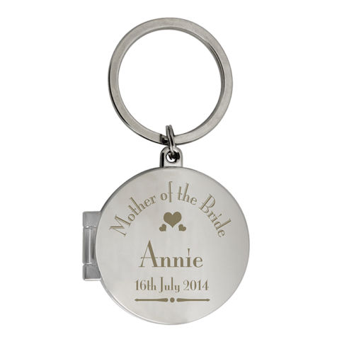 Personalised Mother of the Bride Photo Keyring