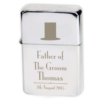 Personalised Father of the Groom Lighter