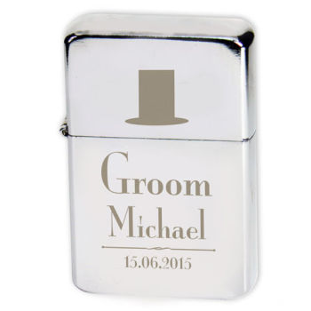 Personalised Groom Lighter