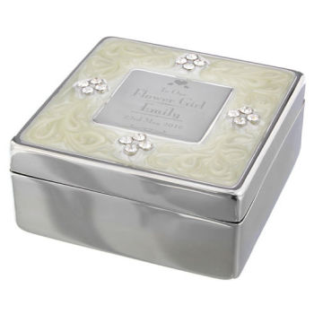 Personalised Flower Girl Trinket Box