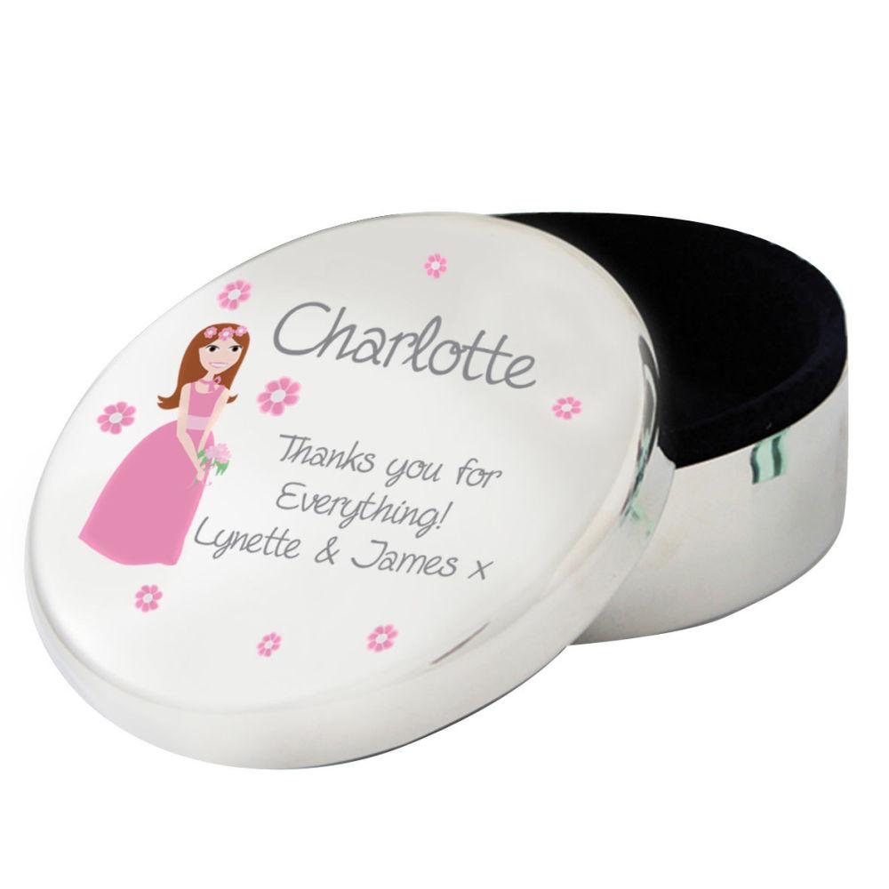 Personalised Flower Girl Trinket Box