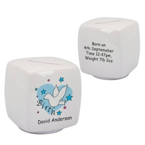 Personalised Bone China Moneybox