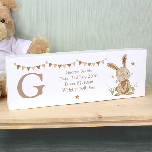 Personalised RABBIT Mantle Block