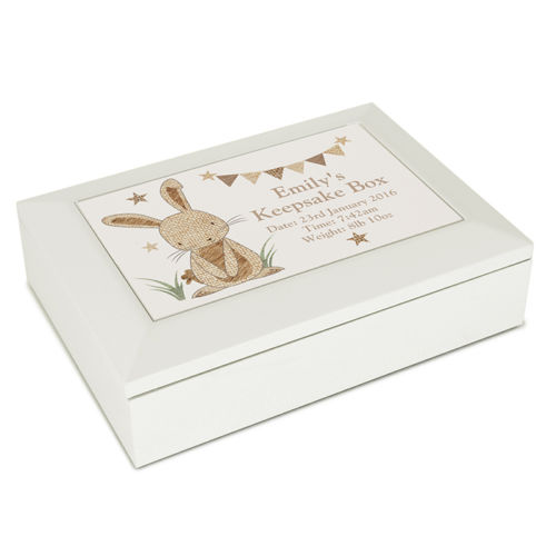 Personalised RABBIT Jewellery Box Baby Keepsake