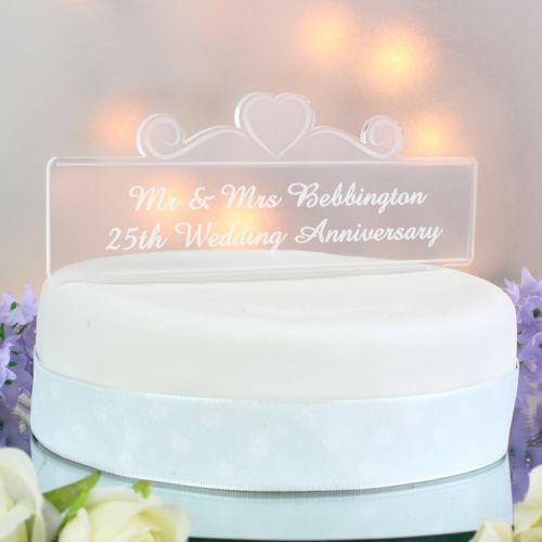 Personalised Acrylic Hearts Cake Topper