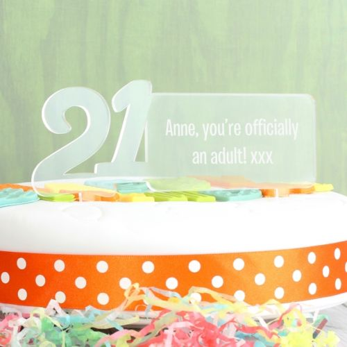 Personalised Age 21 Cake Topper