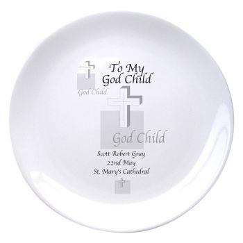 Personalised Godchild Plate