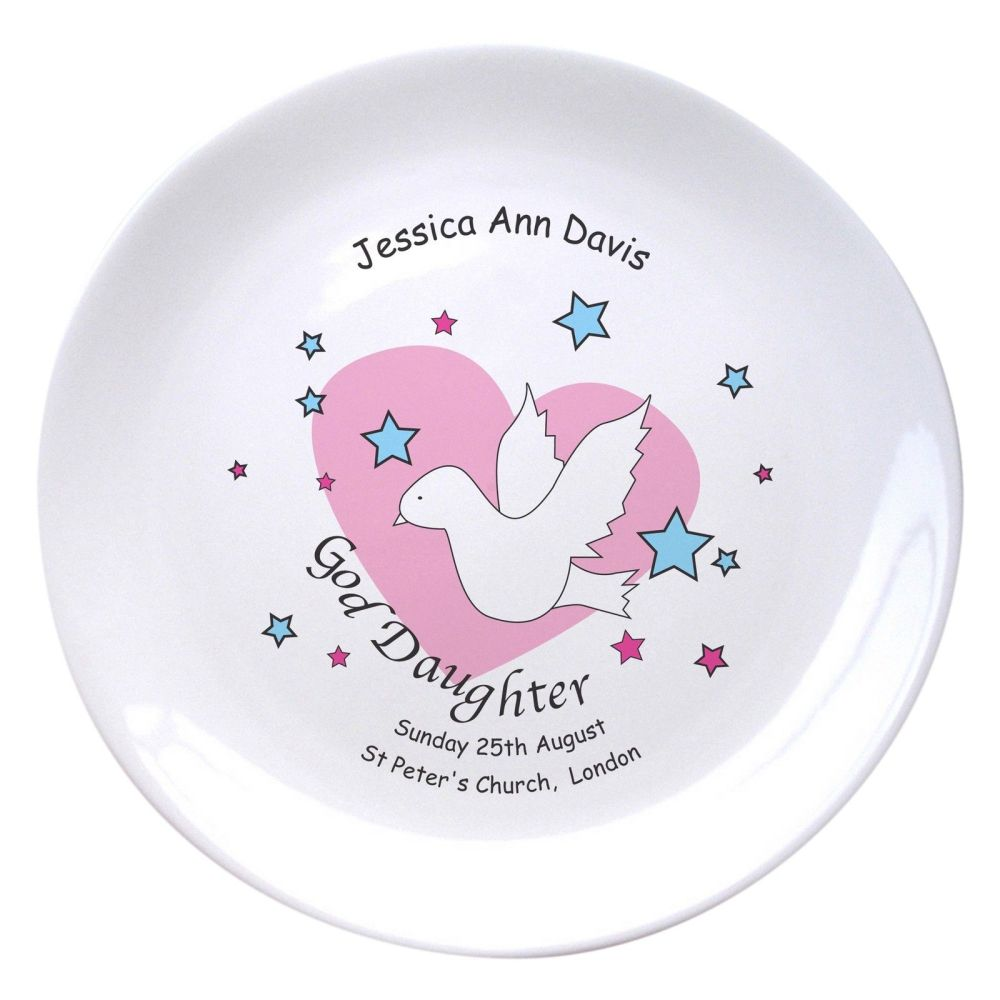 Personalised Goddaughter Plate