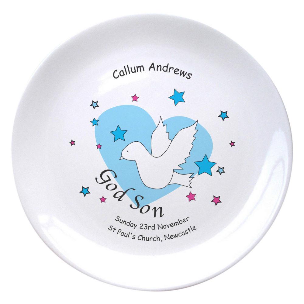 Personalised Godson Plate
