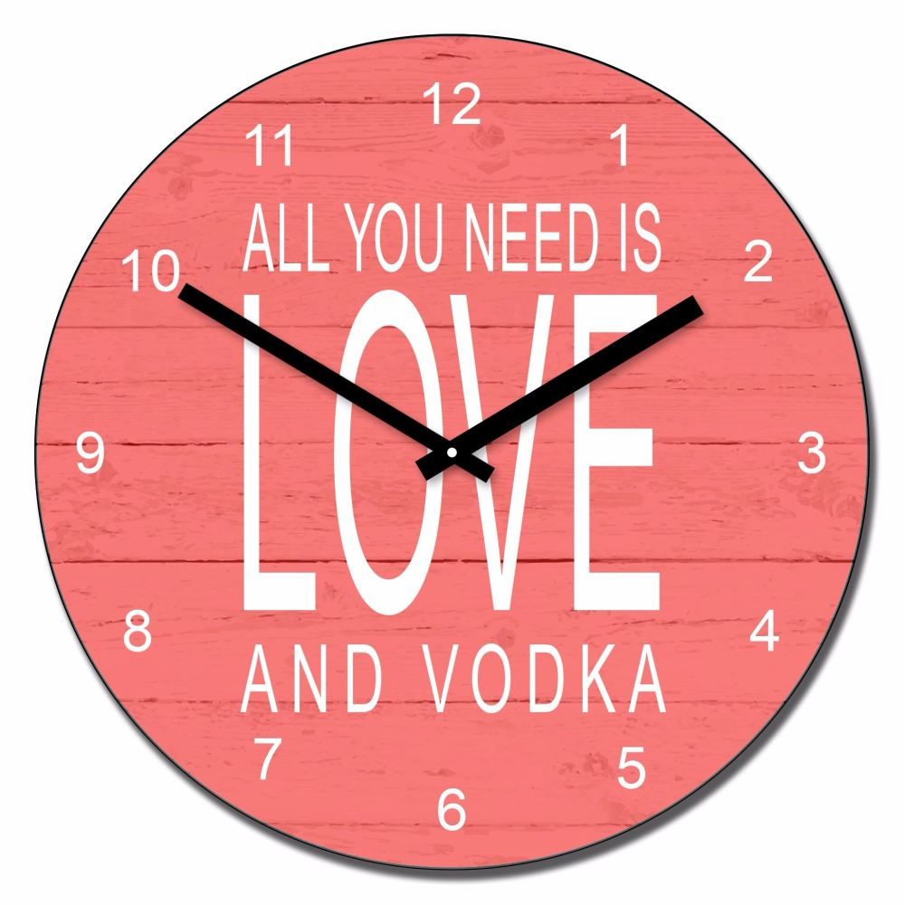 Personalised All you need is love and....wall clock