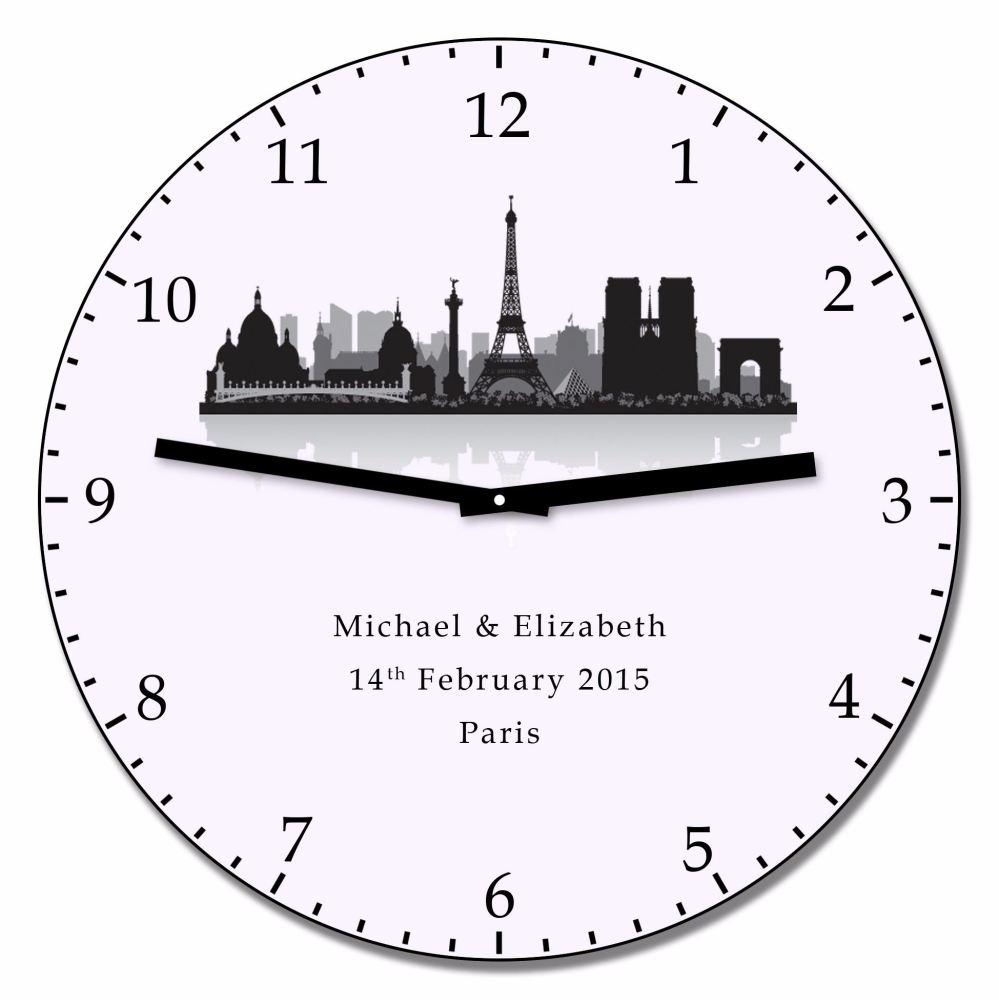 Personalised PARIS Wall Clock